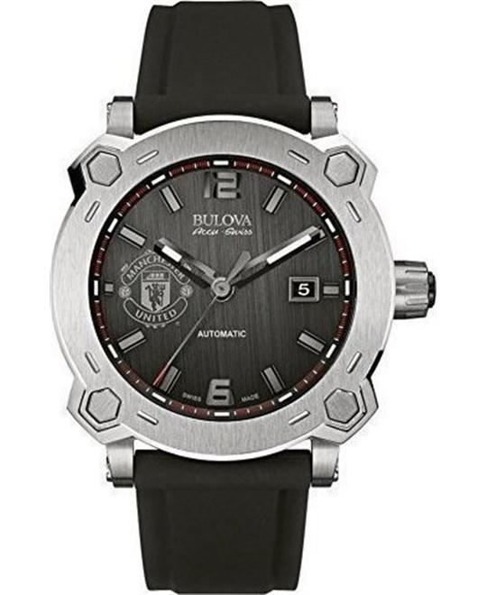 Bulova AccuSwiss Percheron Silicone Automatic Mens Watch 43mm