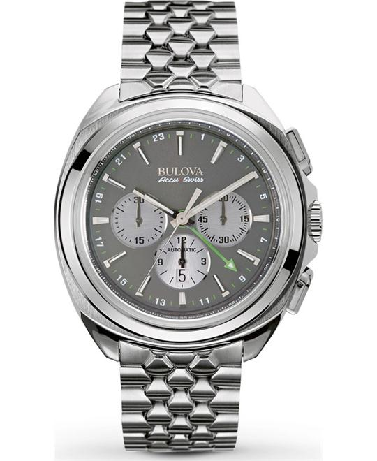 Bulova AccuSwiss Telc Automatic Watch 43mm