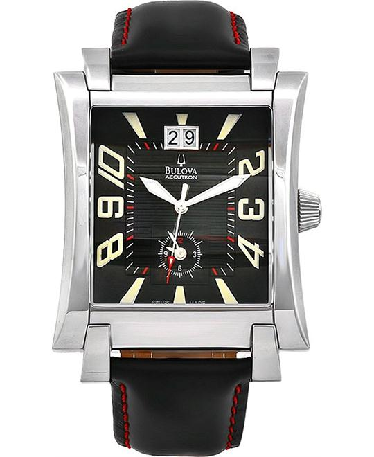 Bulova Accutron Black Swiss Quartz Watch 38mm