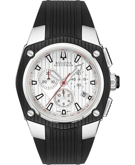 Bulova Accutron Corvara Chronograph Watch 42mm