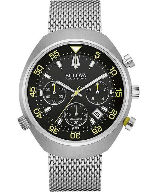 Bulova Accutron II Lobster Chronograph Watch 45mm