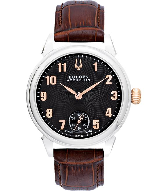 Bulova Accutron Men Stainless Leather Rose-Gold 42mm