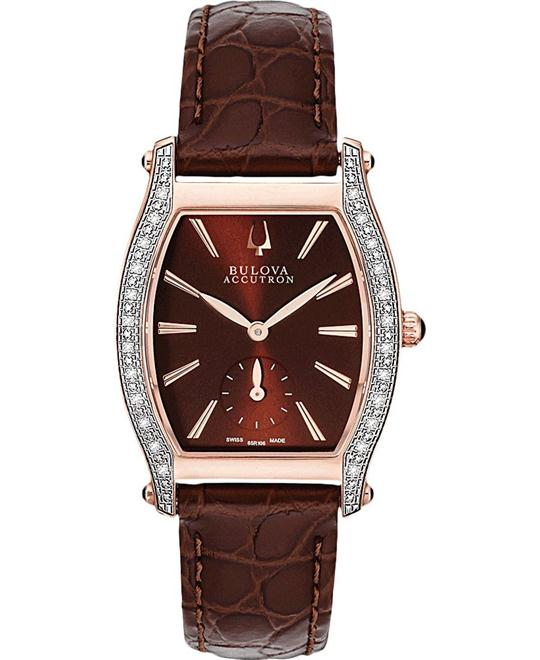 Bulova Accutron Saleya Diamond Watch 28mm