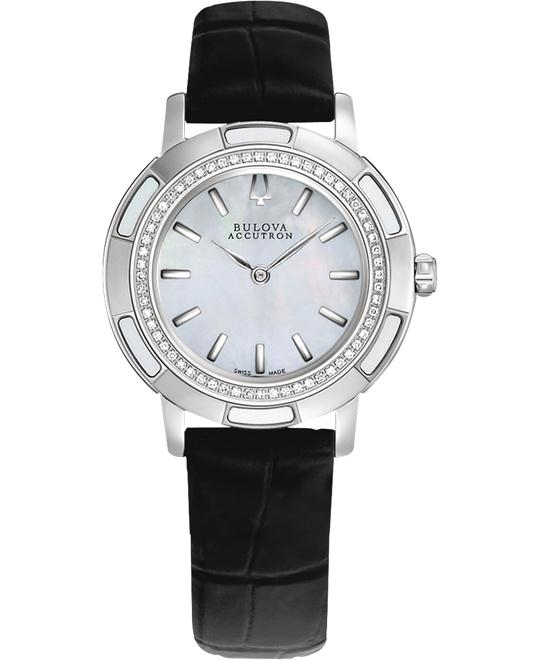 Bulova Accutron Women's Stainless steel Leather 32mm