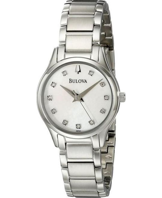 Bulova Analog Quartz Silver Women's Watch 28mm