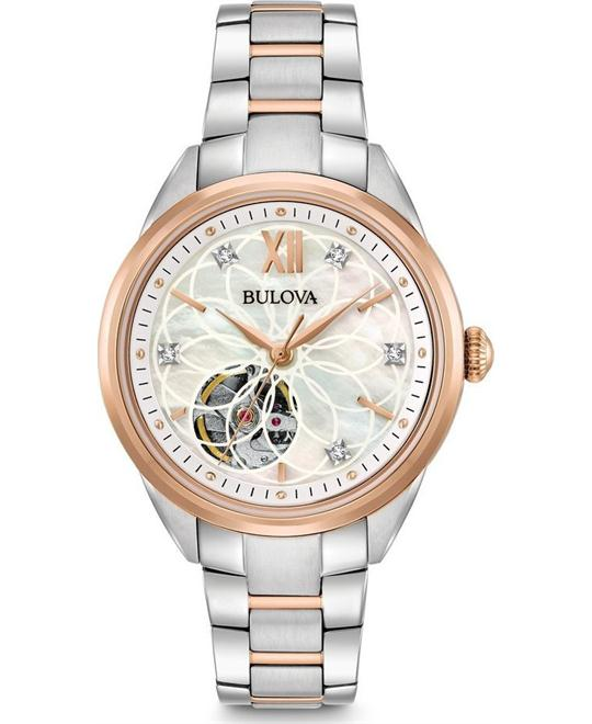 Bulova Automatic Diamond Women's Watch 34mm