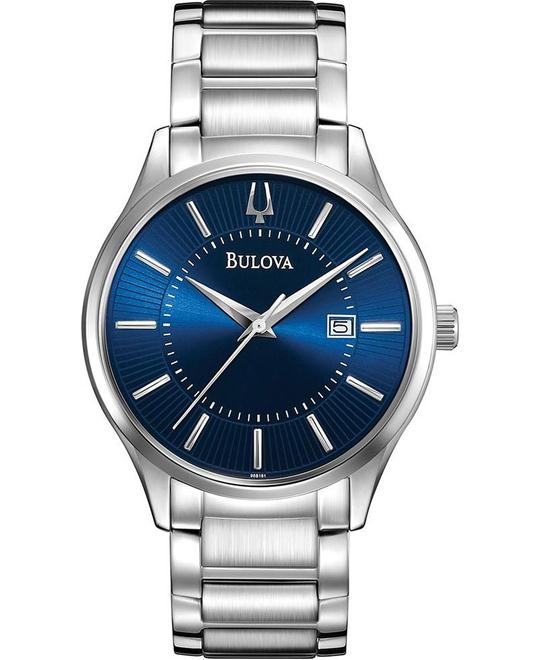 BULOVA Blue Dial Stainless Steel Watch 40mm