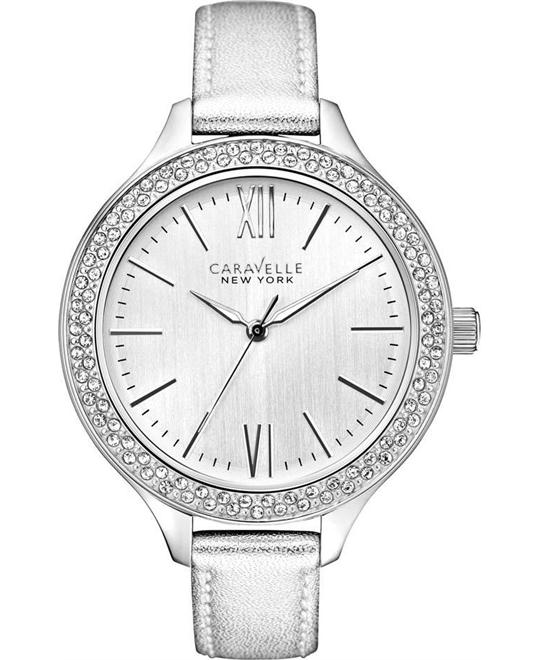 Bulova Caravelle New York Silver-Tone Women's Watch 44.5mm