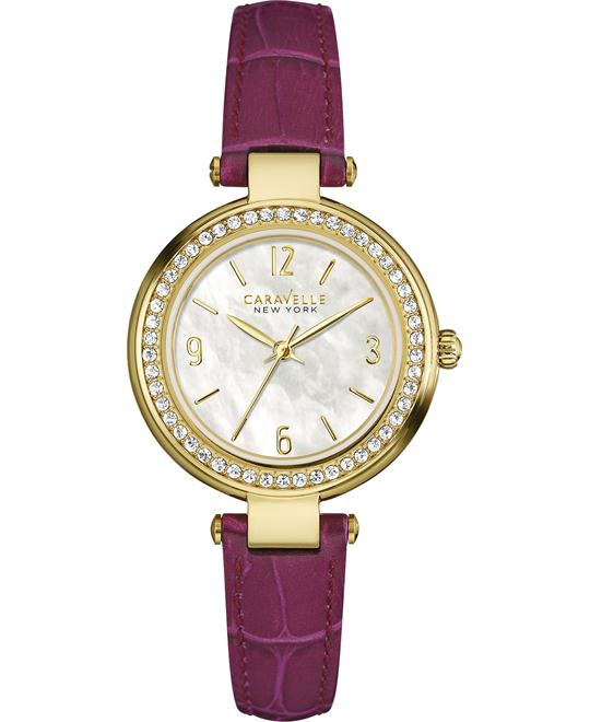 Bulova Caravelle New York MOP Purple Watch 30mm