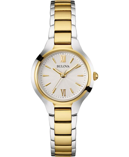 Bulova Classic Women's Two Tone Watch 28mm