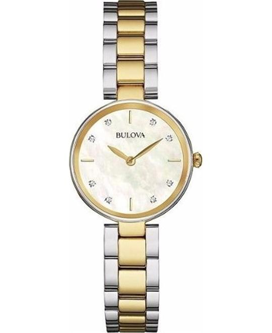 Bulova Corporation Diamond Womens Watch 27mm