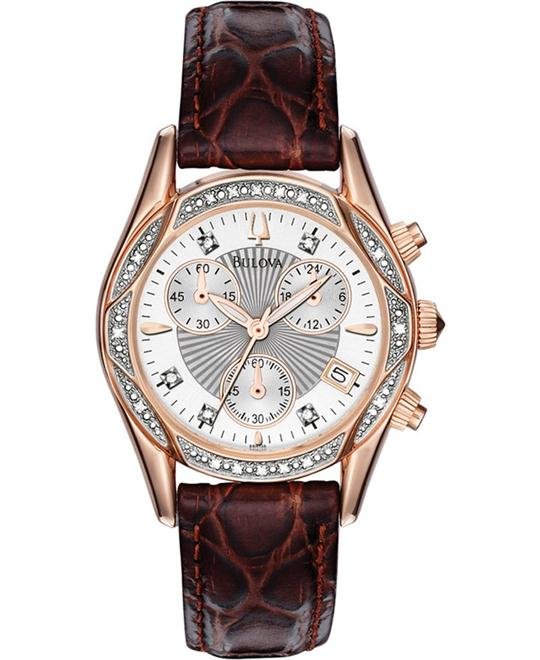 Bulova Diamond Anabar Chronograph Watch 33mm