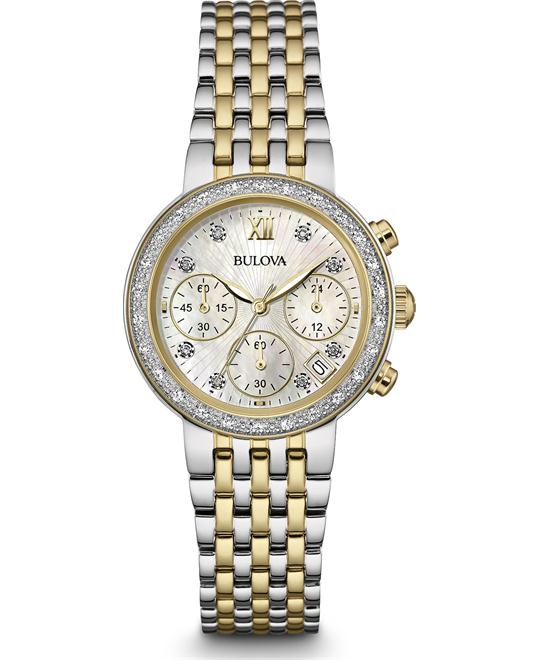 Bulova Diamond Chronograph Women's Watch  30mm