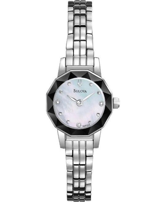 BULOVA Diamond  Faceted Mother of Pearl Watch 21mm