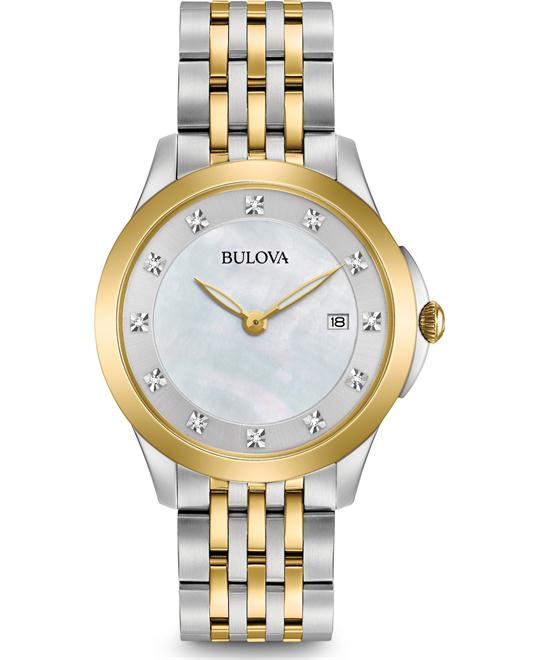 Bulova Diamond Ladies Two-Tone MOP Watch 36mm