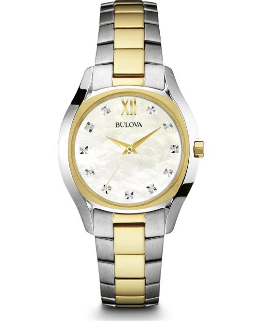 Bulova Diamond Two-Tone Ladies Watch 32.5mm