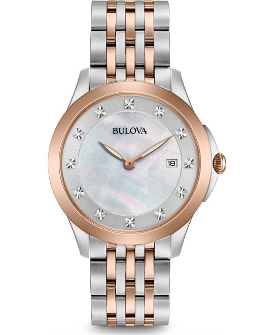 Bulova Diamond Two-Tone MOP Ladies Watch 36mm