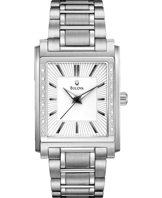 BULOVA White Diamond Men's Watch 32x45mm