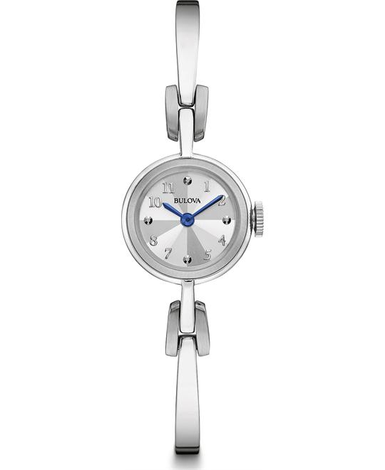 Bulova Dress Quartz Stainless Steel Women's Watch 20mm