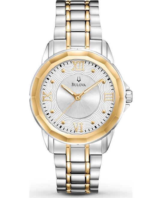 Bulova Dress Two-Tone Round Watch 32mm