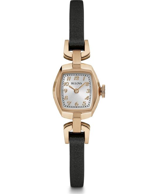 Bulova Dress Women's Quartz Leather Watch  18x21mm