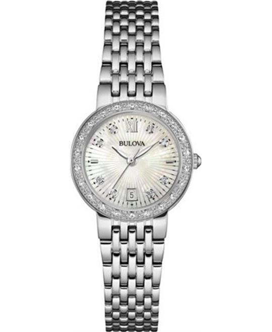Bulova Maiden Lane Diamond Watch 26mm