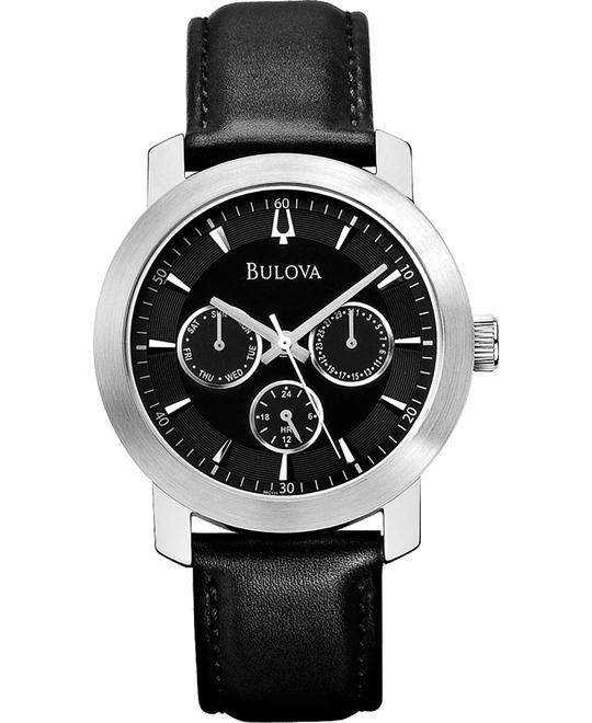 Bulova Men's Analog Display Quartz Black Watch 40mm