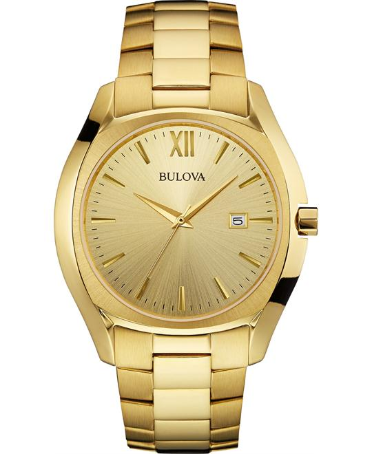 Bulova Men's  Analog Goldtone Watch 42mm