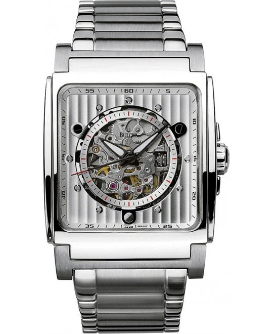 Bulova Men's Automatic White Dial Bracelet Watch 45mm