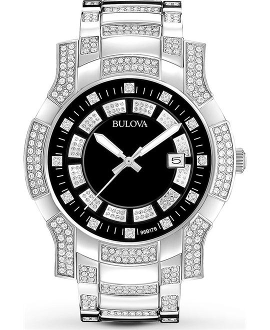 Bulova Men's Crystal Stainless Watch 42mm