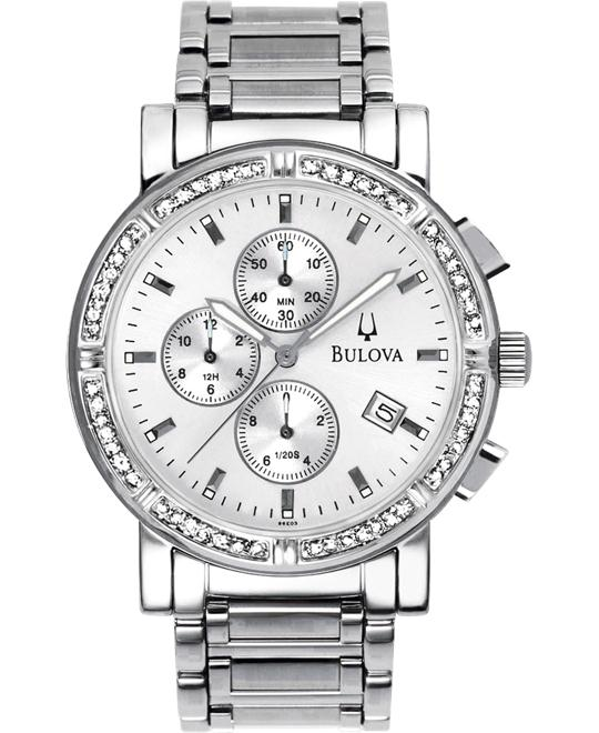 Bulova Men's Diamond Accented Watch, 37mm