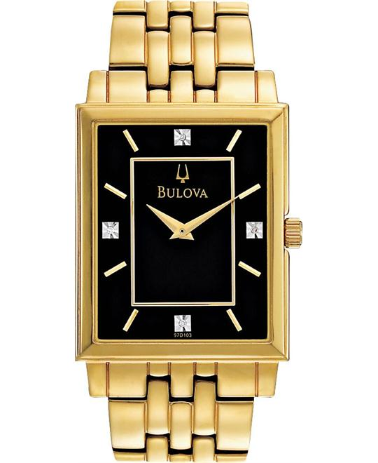 Bulova Men's Diamond Classic Goldtone Watch 29mm