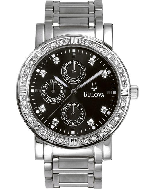 Bulova Men's Diamond Multifunction Watch, 39mm