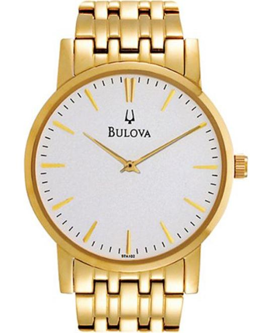 Bulova Men's Dress Classic Goldtone Watch 38mm