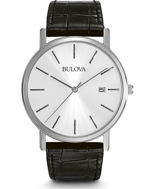Bulova Men's Leather Dress Watch 37mm