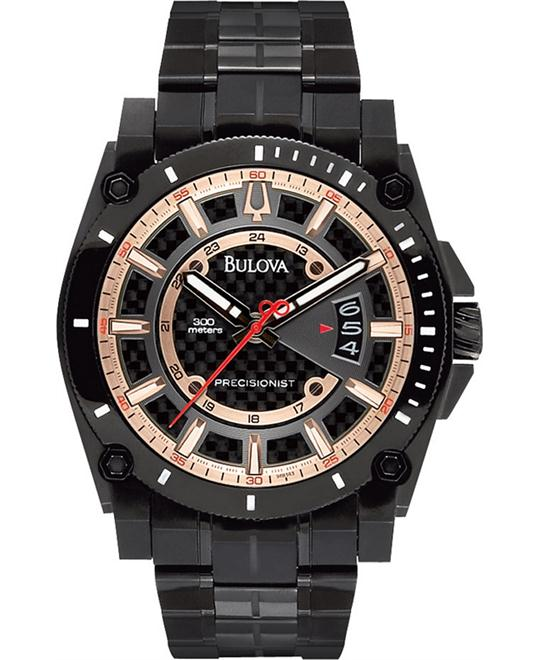 Bulova Men's Precisionist Black Anodized Watch 47mm