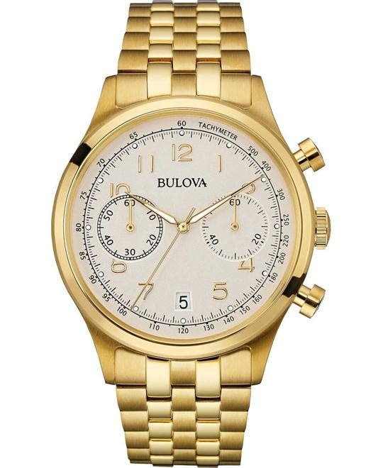 BULOVA MEN'S VINTAGE CHRONOGRAPH WATCH 43MM