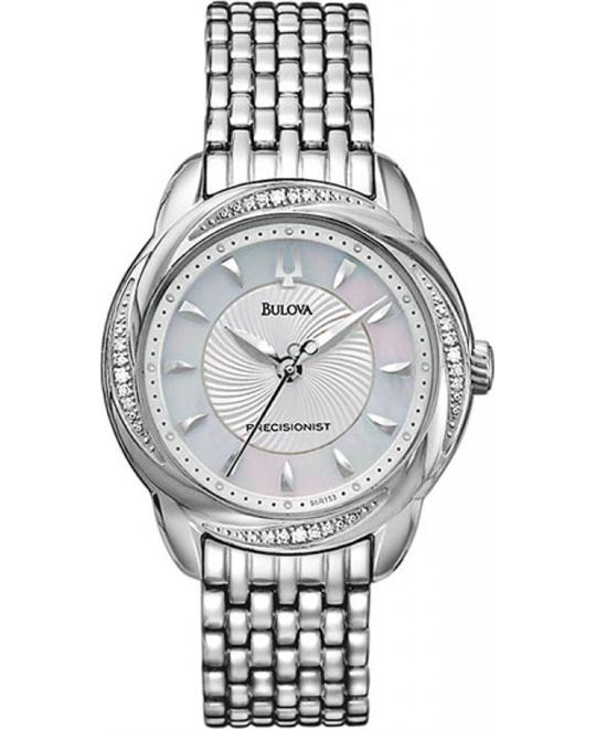 Bulova Precisionist Brightwater Swirl Watch 30mm