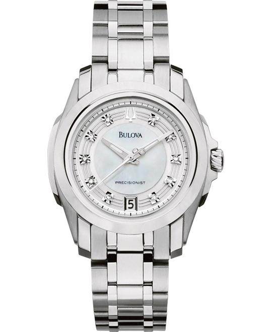 BULOVA Precisionist White Ladies Watch 30mm
