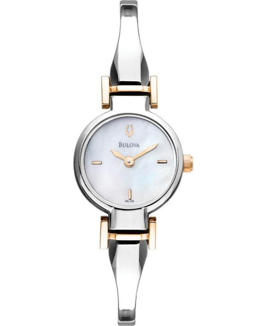 Bulova Silver Stainless-Steel Women's Watch 22mm