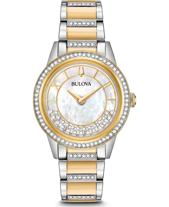 đồng hồ BULOVA TURNSTYLE SWAROVSKI CRYSTALS WATCH 33MM