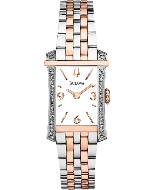 BULOVA Diamond White Ladies Watch 31mm