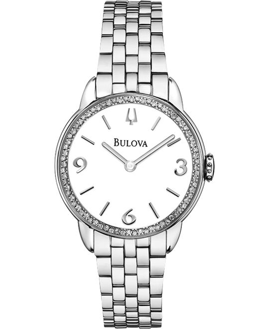BULOVA Diamond White Ladies Watch 28mm