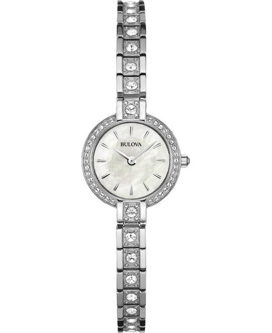Bulova Women's Crystal Accent Bracelet Watch 21mm