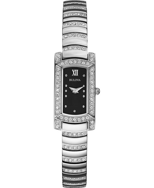 Bulova Women's Crystal Watch 15mm