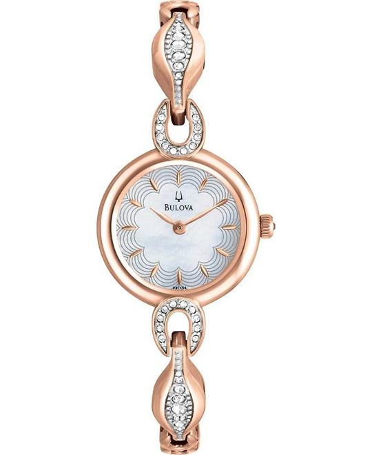 Bulova Women's Crystal Bangle Watch 23mm