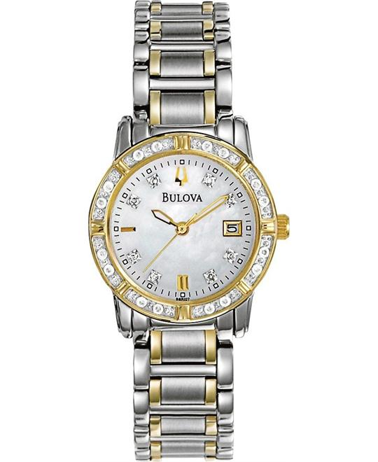 Bulova Women's Diamond Calendar Watch 26mm