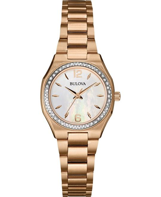 Bulova Women's Diamond Gallery Rose Gold Watch 26mm
