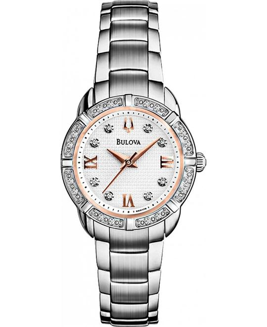Bulova Women's Diamond Set Case Watch 26mm