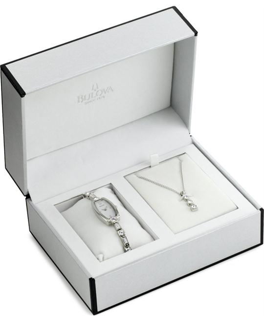 Bulova Women's Exclusive Swarovski Watch Gift Set 15mm